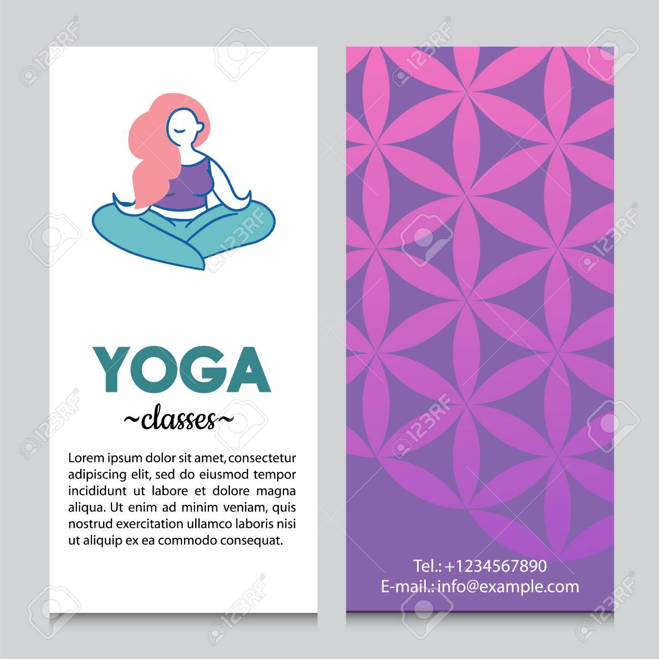 Banner Or Flyer Template For Yoga Retreat Or Yoga Studio, Flower ...
