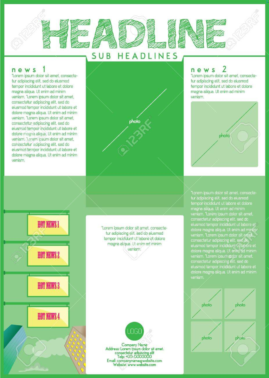 Symmetric Flyer Design Template One Sheet Royalty Free Cliparts