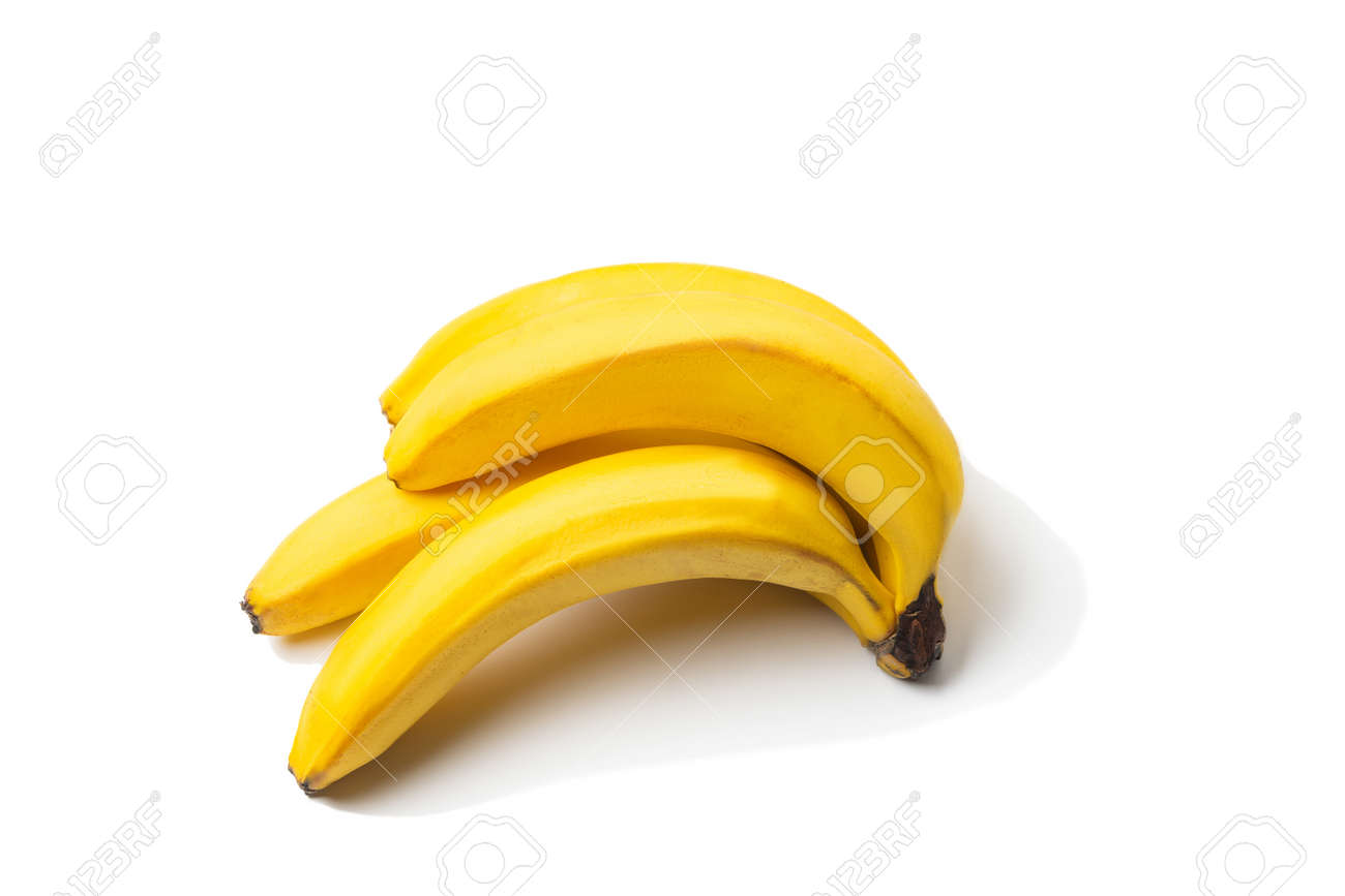 Bunch of ripe bananas isolated on white background. - 171995549
