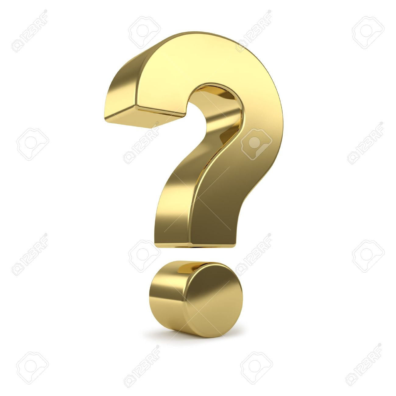 gold 3d question mark Stock Photo - 8808736