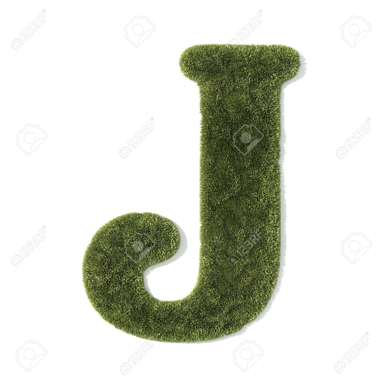 Grass Font   Letter J Stock Photo   9035149