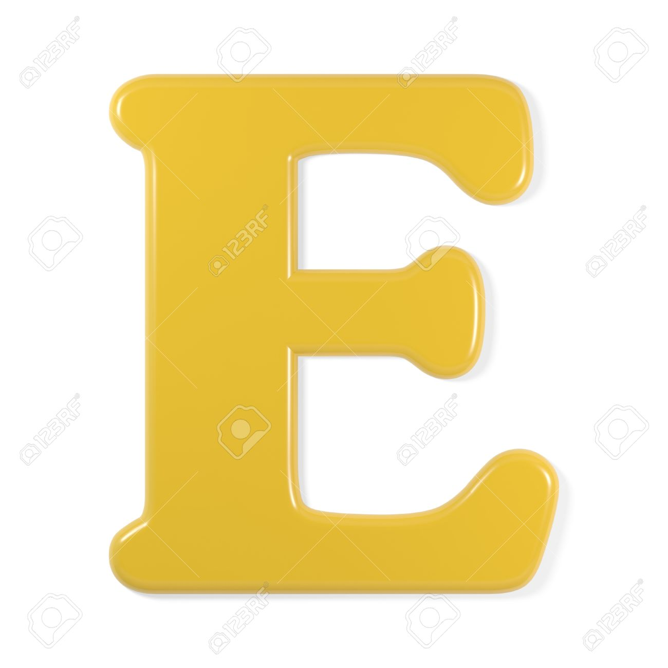 The Letter E: Yellow Font   Letter E