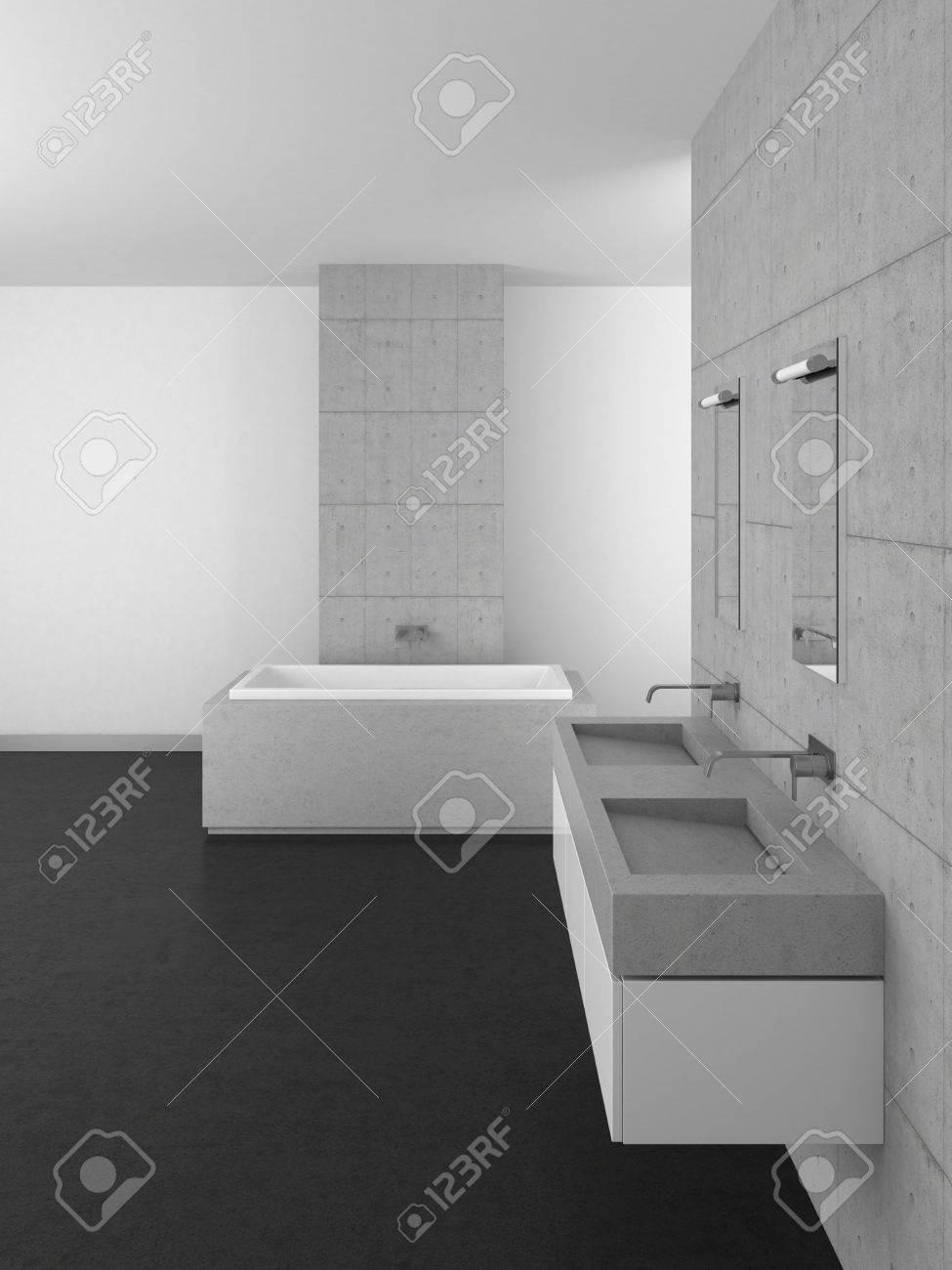 Bagno Grigio Scuro : Bagno grigio scuro e bianco. Arredo bagno ...