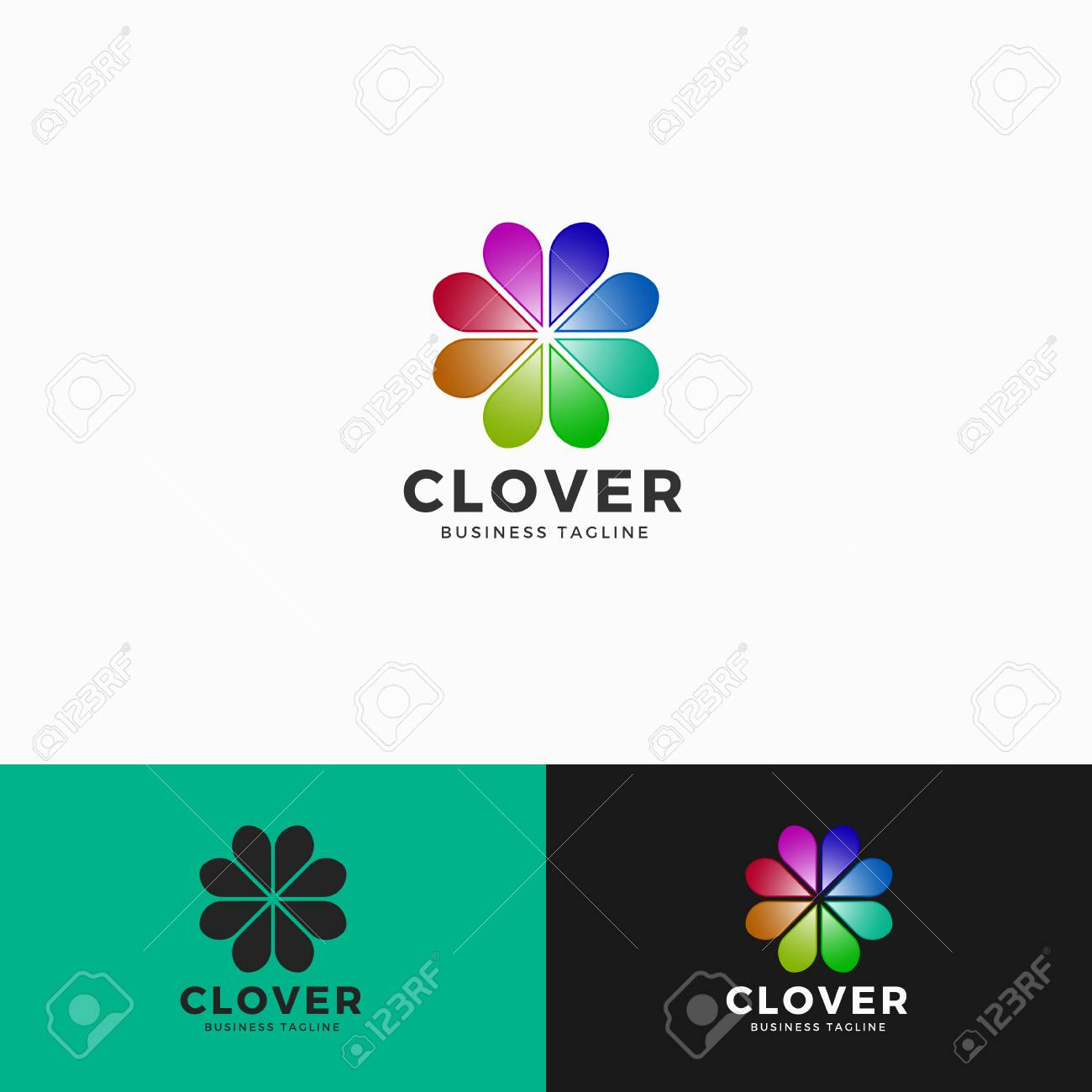 cover heart flower logo template royalty free cliparts vectors