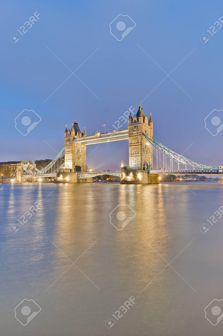 Tower Bridge across Thames river at London, England Stock Photo - 13141067