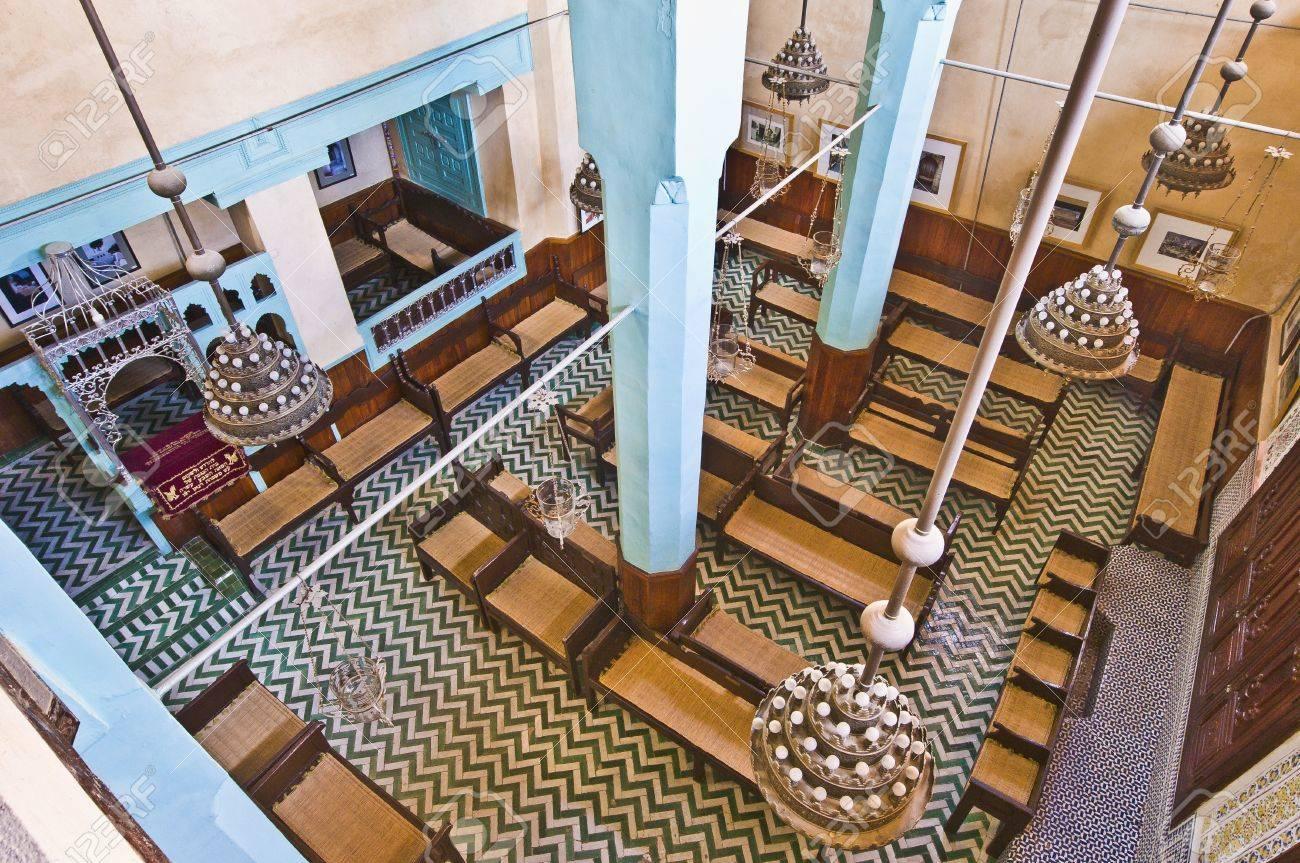 Aben Danan Synagogue interior located at Fez, Morocco Stock Photo - 14392678