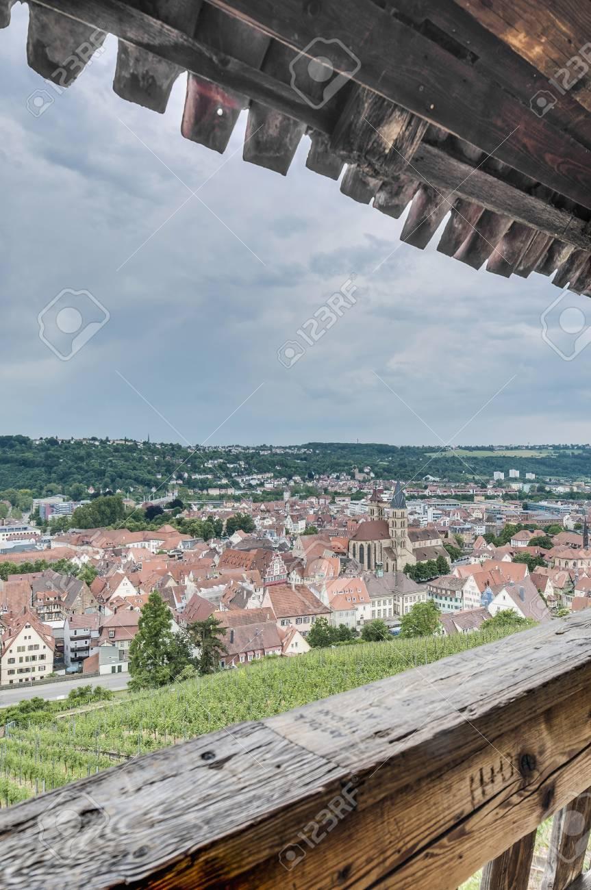Esslingen am Neckar views from the stairs (Burgstaffel) to the Castle (Burg) near Stuttgart, Germany Stock Photo - 17232533