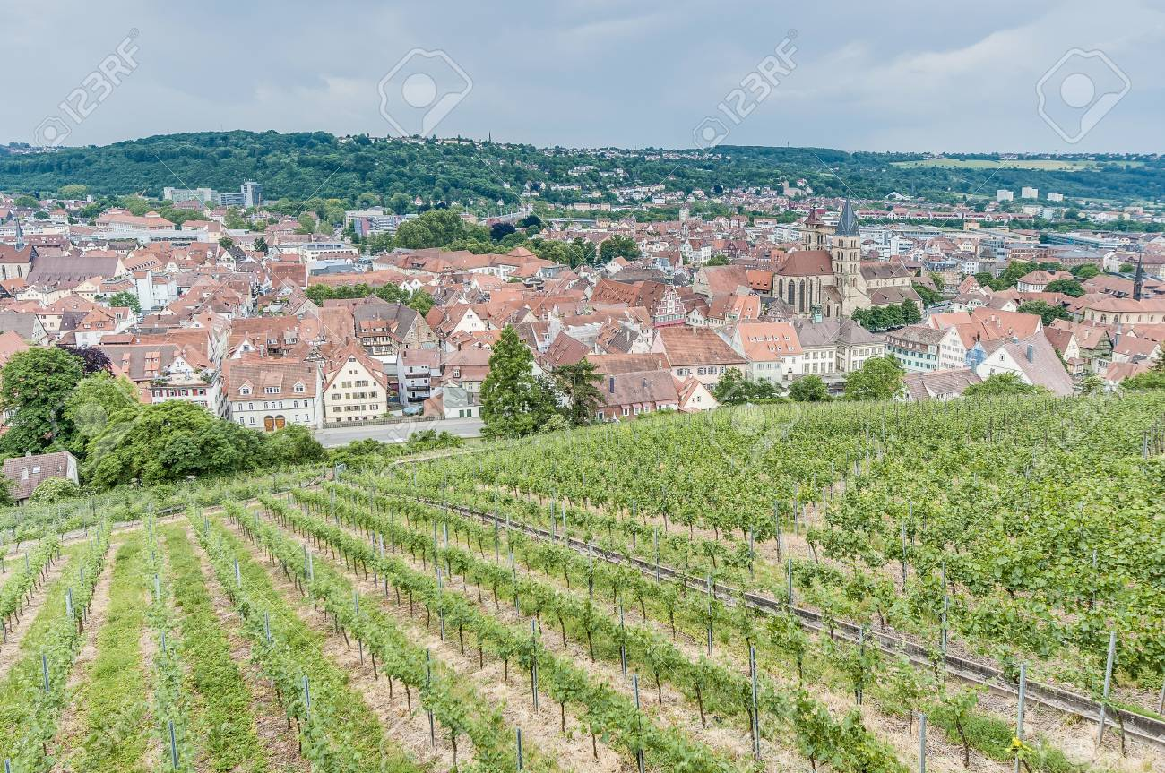 Esslingen Am Neckar Allgemeinen Ansichten Von Burgsteige Zum Schloss