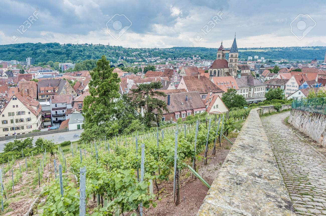 Esslingen Am Neckar Blick Von Burgsteige Zum Schloss Burg In Der