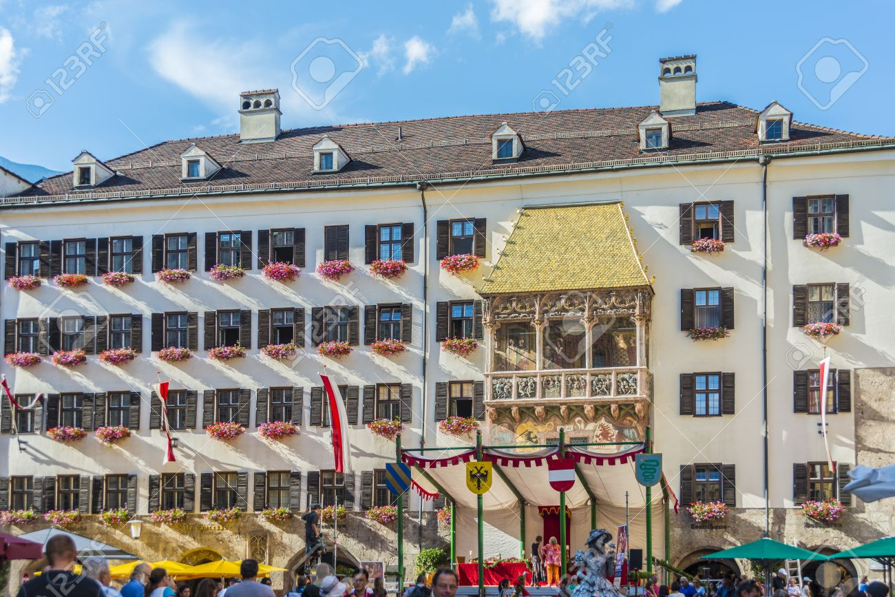 INNSBRUCK AUSTRIA - AUG 15 The Golden Roof ornamented with 2738 fire- & INNSBRUCK AUSTRIA - AUG 15: The Golden Roof Ornamented With ... memphite.com