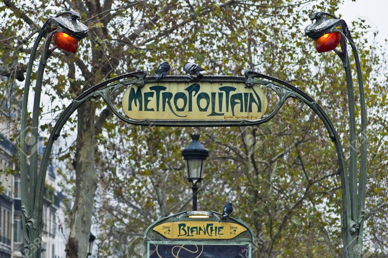 Art Nouveau Metro Entrance At Paris, France Stock Photo, Picture And ...