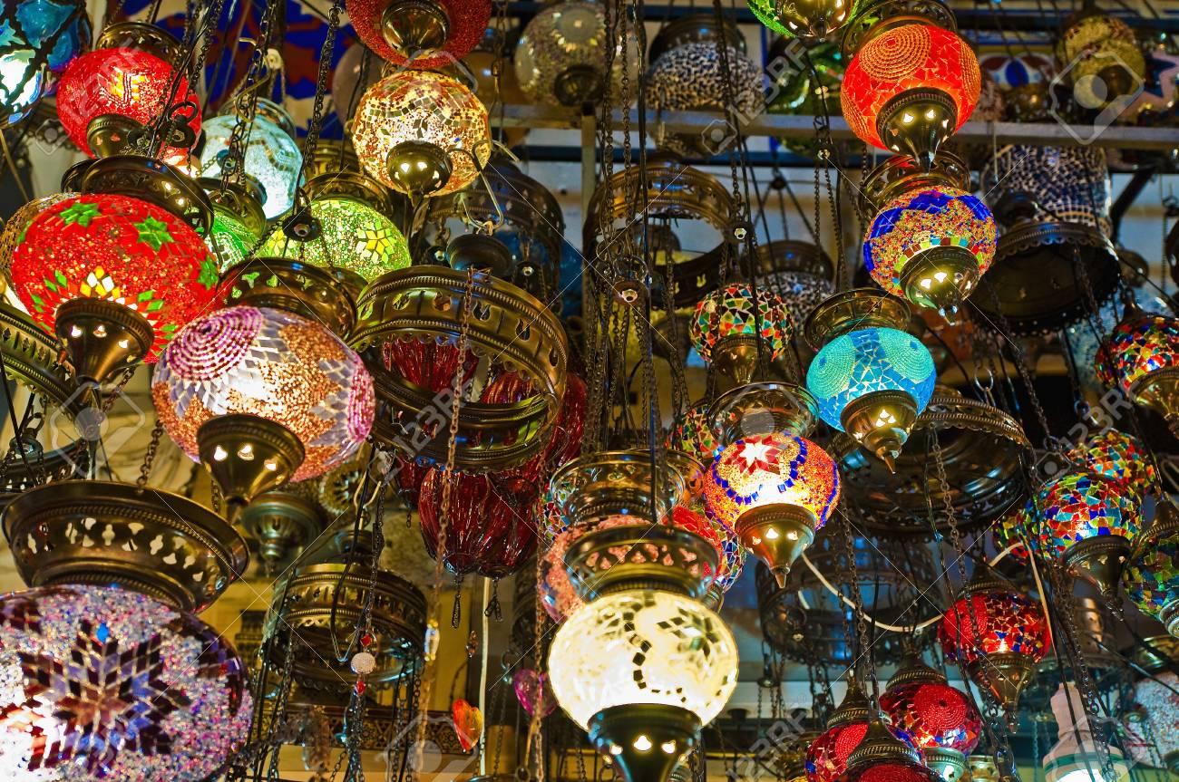 en la Lámparas en a venta de Estambul cristal bazar el gran wTPkiXZuO