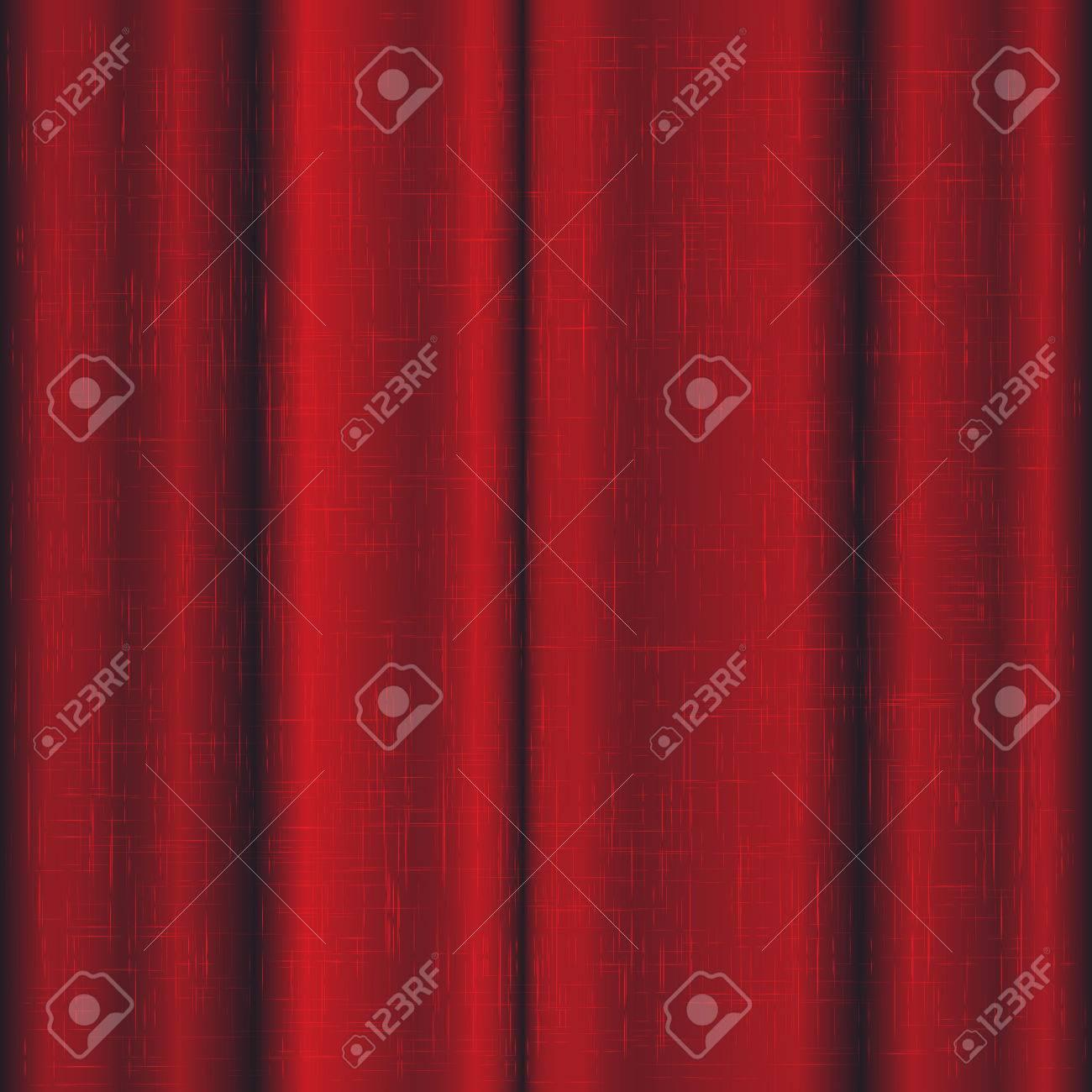 foto de archivo cortinas de lino de color rojo para la etapa