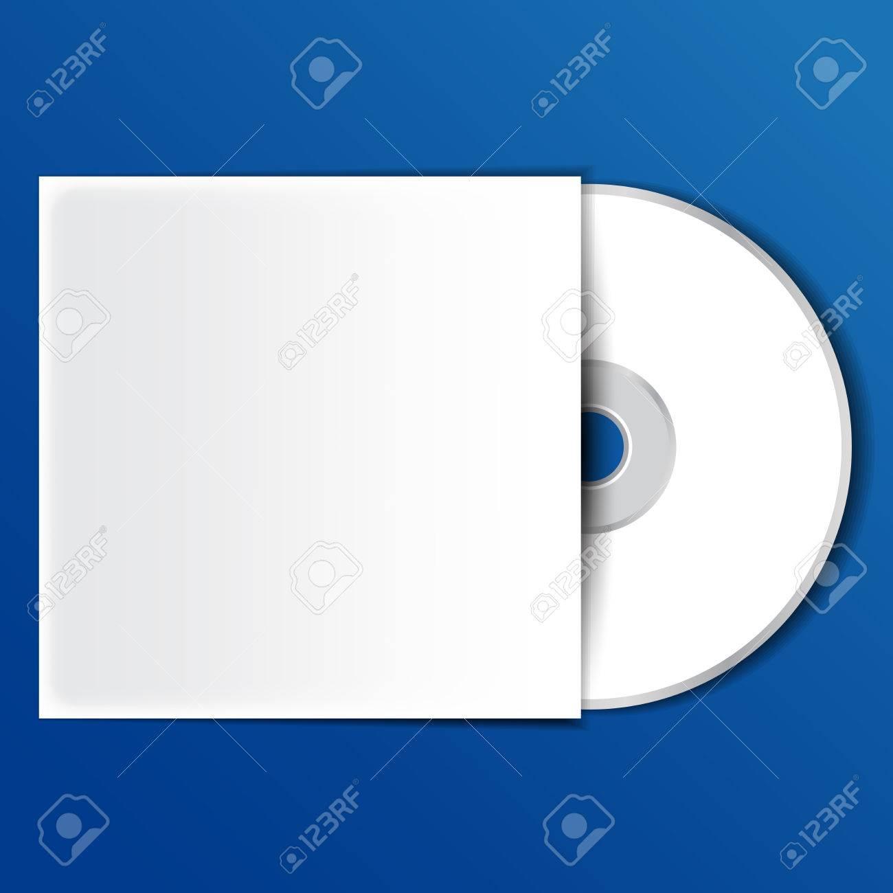 Disco CD O DVD De Vídeo Y Sistema De Plantillas Ilustraciones ...