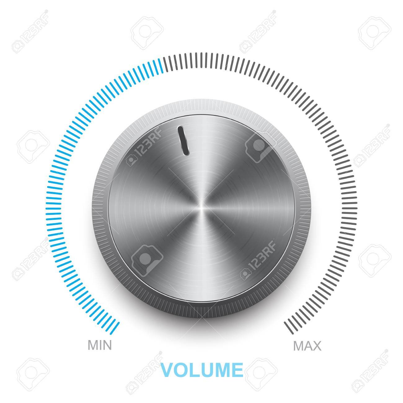 Vector volume control on a white background - 88070649