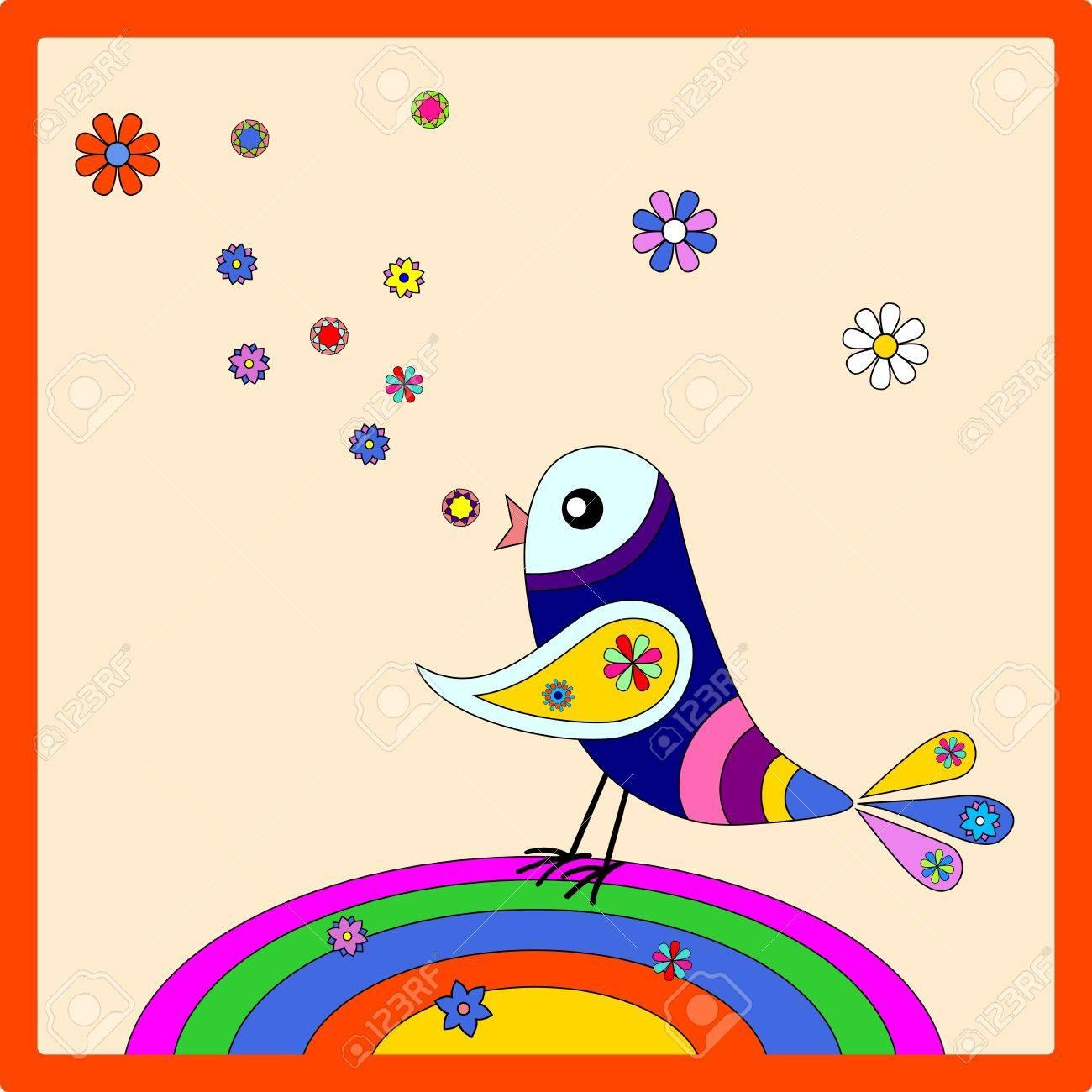 Rainbow bird Stock Vector - 11661273