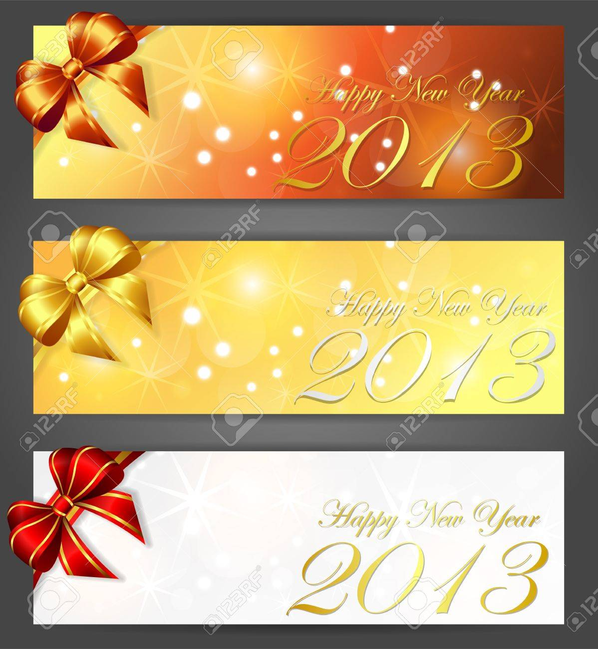 new year 2013 banners, vector illustration, contains gradients and transparency, eps10 Stock Vector - 16462248