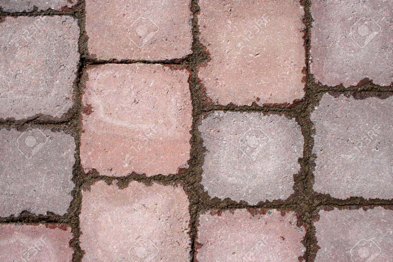 Texture di pavimentazione in pietra del modello con piastrelle di