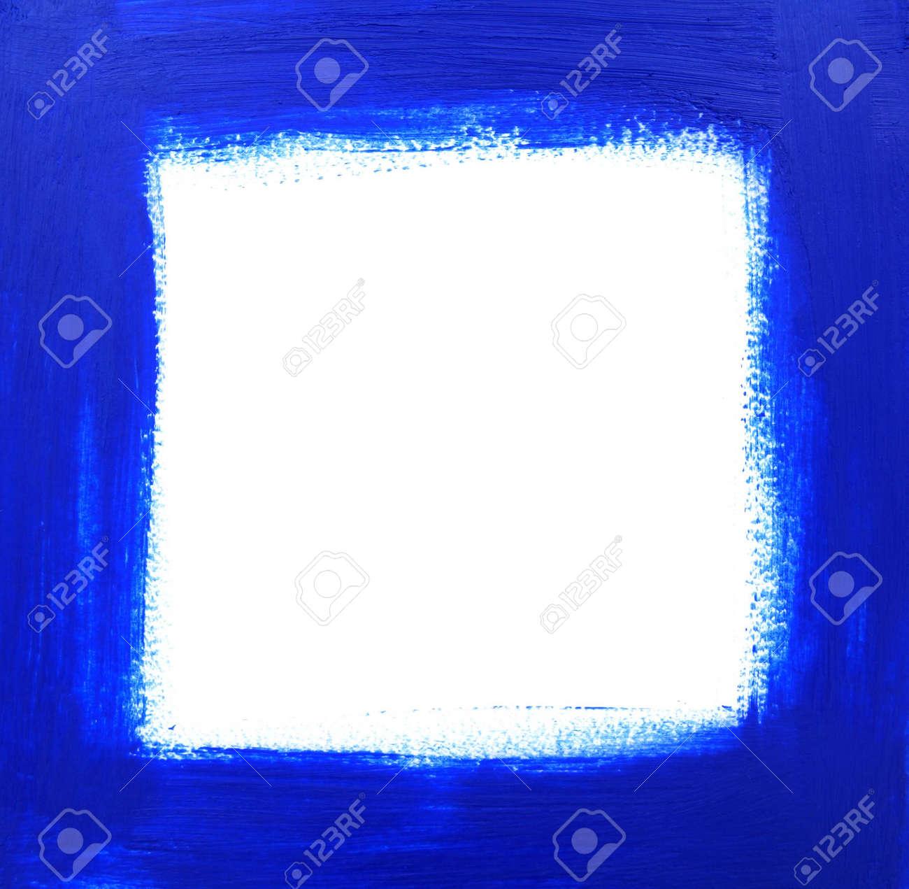 Rough Öl-blau Lackierten Rahmen Mit Platz Für Die Kopie. Lizenzfreie ...