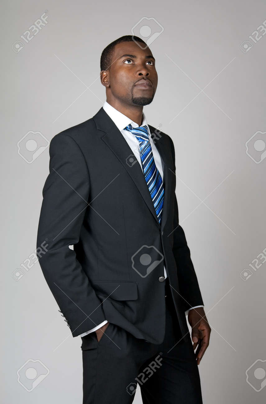 Businessman with a vision, looking into the future and thinking. Stock Photo - 10119375