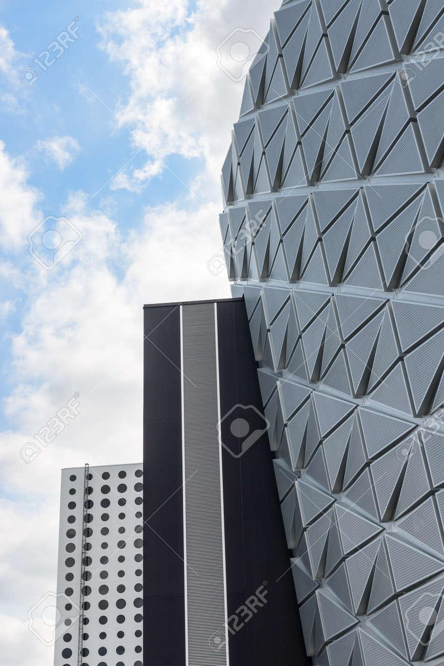 Futuristic architecture  Three modern buildings with different design  Stock Photo - 22051345
