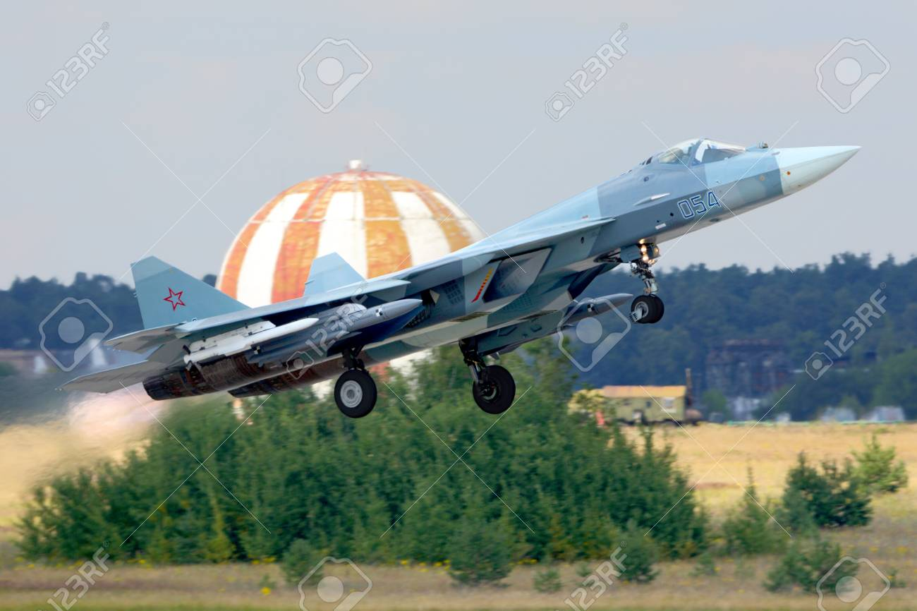 Airplane T-50-11 arrived in Zhukovsky 13