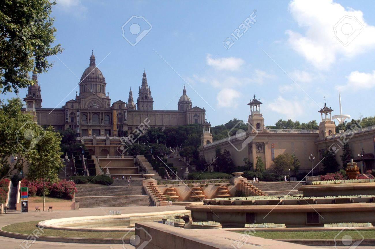Placa De Espanya, the National Museum in Barcelona. Spain Stock Photo - 11088356