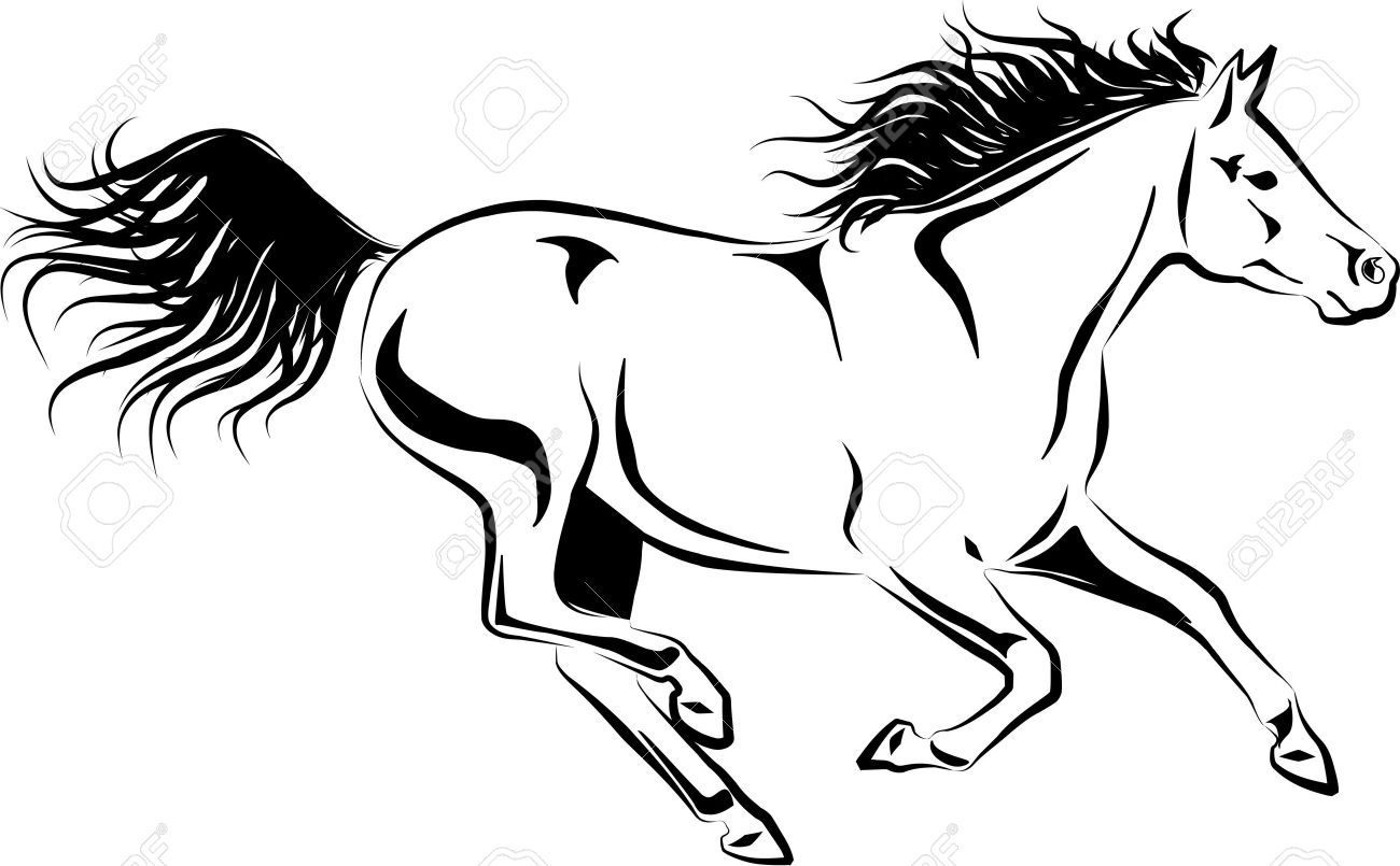 Illustration Of Galloping Horse Royalty Free Cliparts Vectors And Stock Illustration Image 16126000