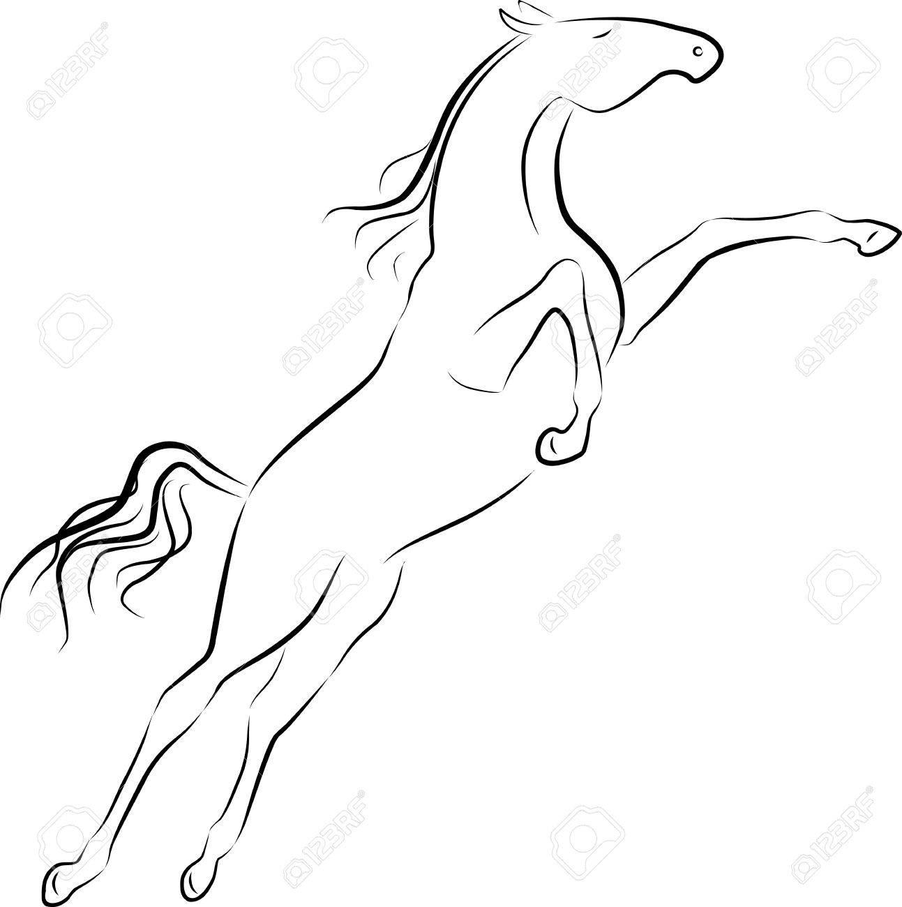 illustration of jumping horse Stock Vector - 16125997