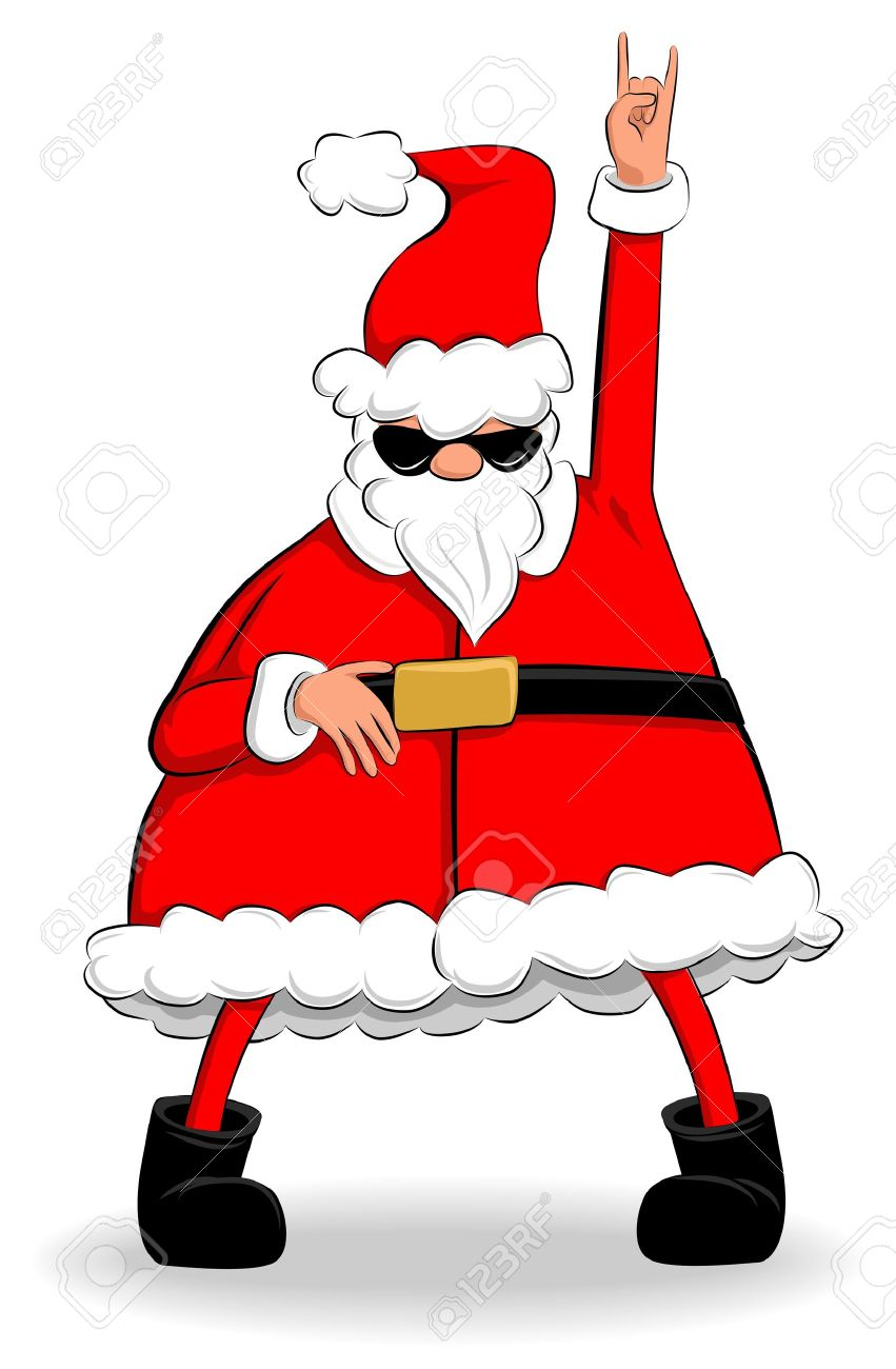 Photo De Noel Drole.Drôle De Graisse Père Noël Dansant Et Faire La Fête