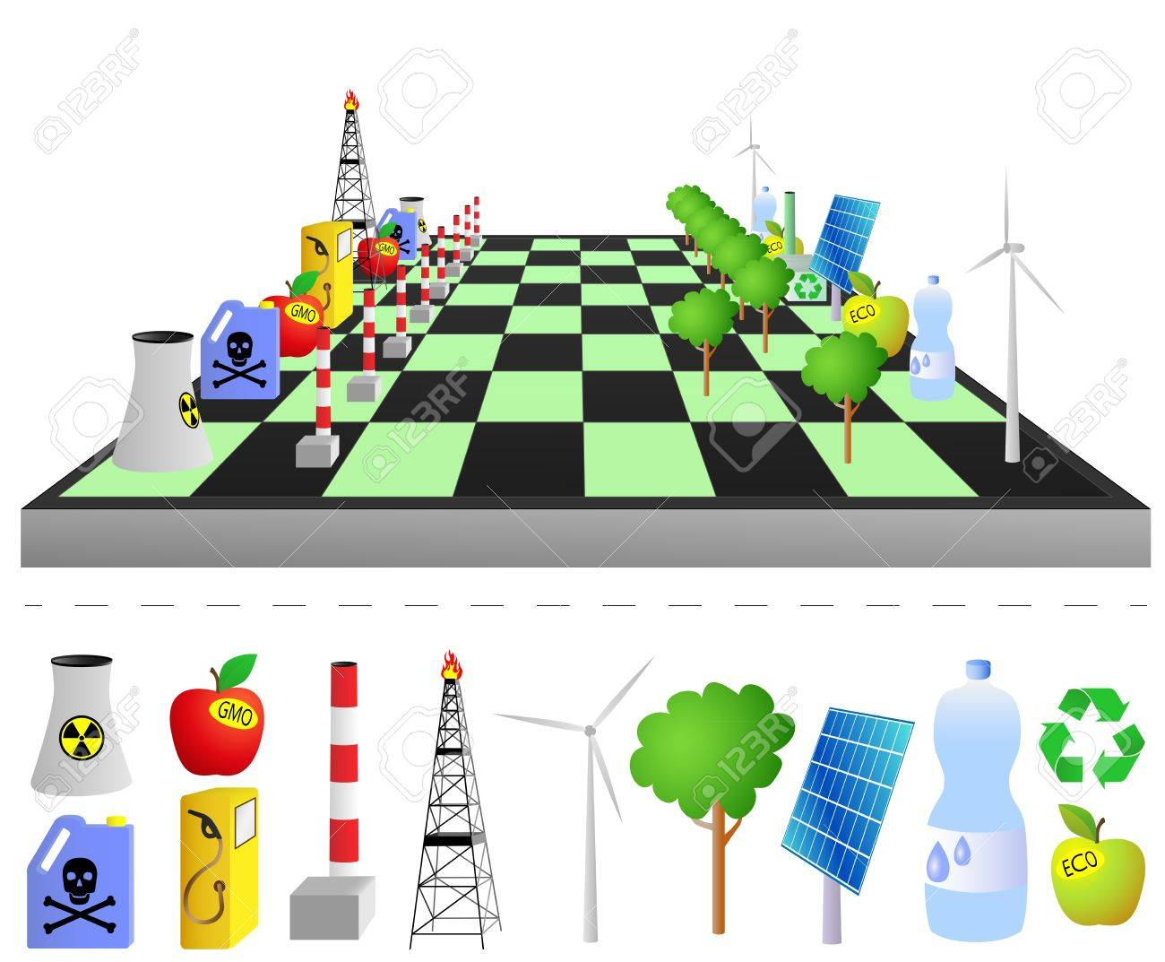 Think green - play green Stock Vector - 16585052