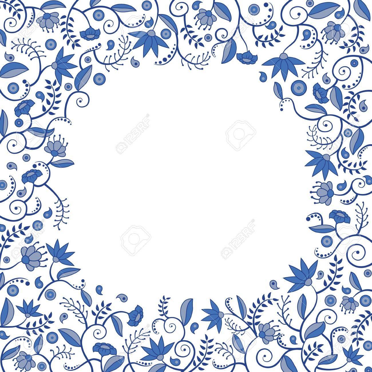 Floral border pattern - 17068524