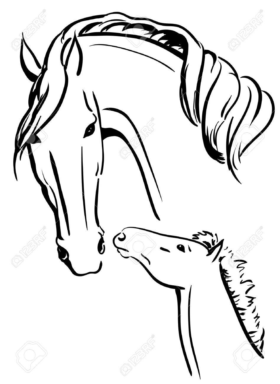 mare and foal black and white royalty free cliparts vectors and RE MAX mare and foal black and white stock vector 17068508