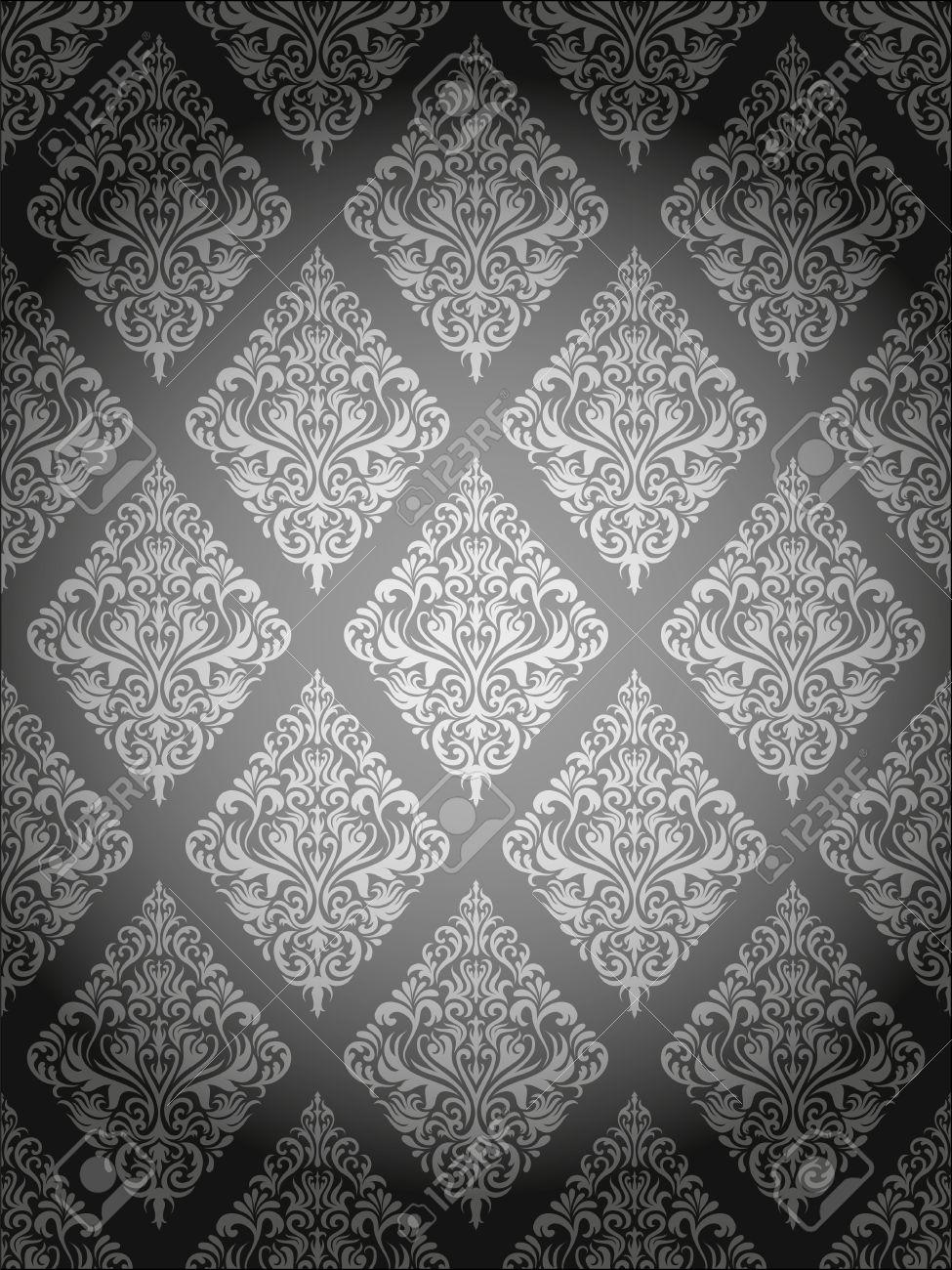 grey damask background