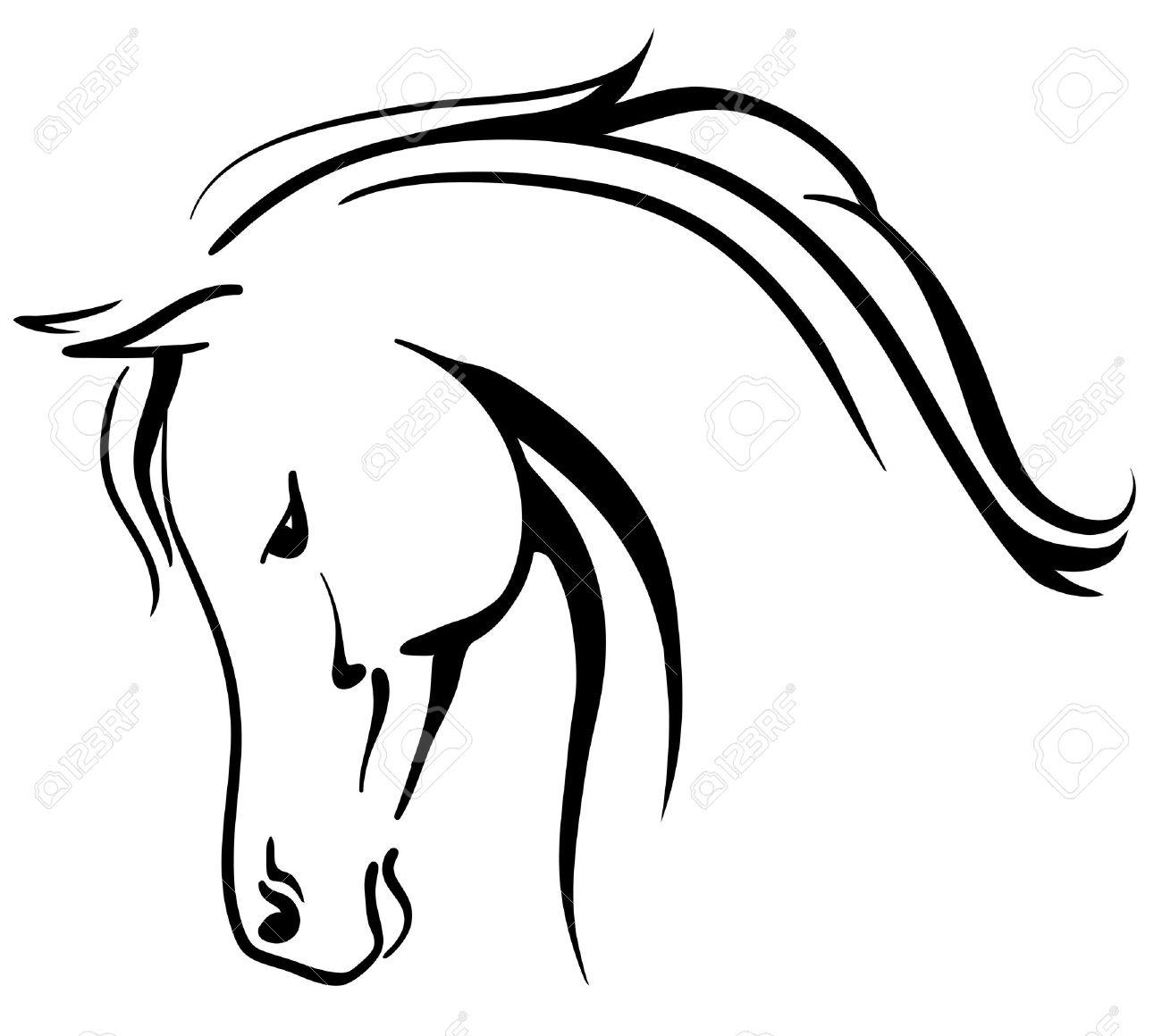 clip art arabian horse stylised head royalty free cliparts vectors rh 123rf com vector art horse head horse head vector png