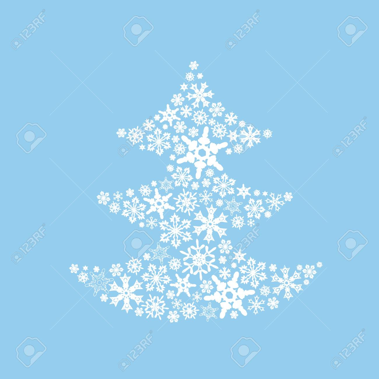Christmas Holidays Pictures.Christmas Tree Draw By Snowflakes Original Picture To New Year