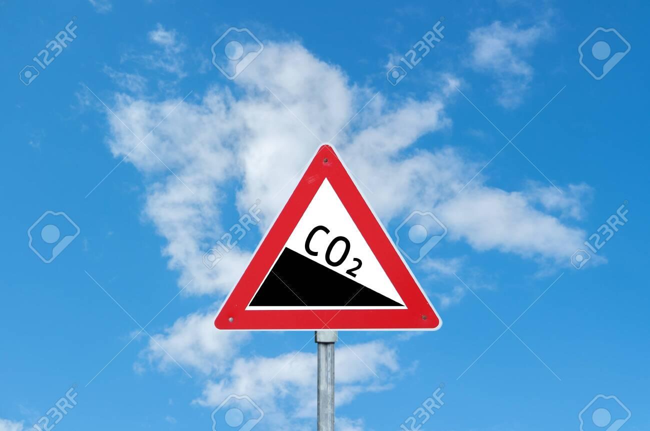 Co2 Warning sign - 130063314