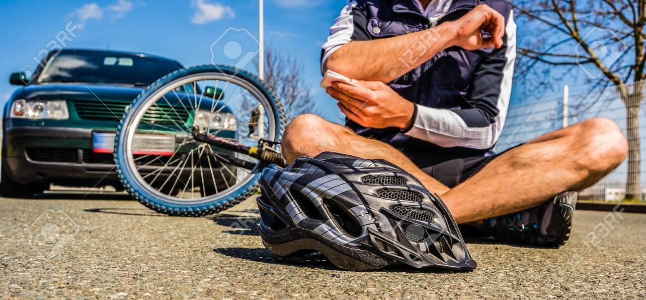 Bicycle accident injury - 130130282