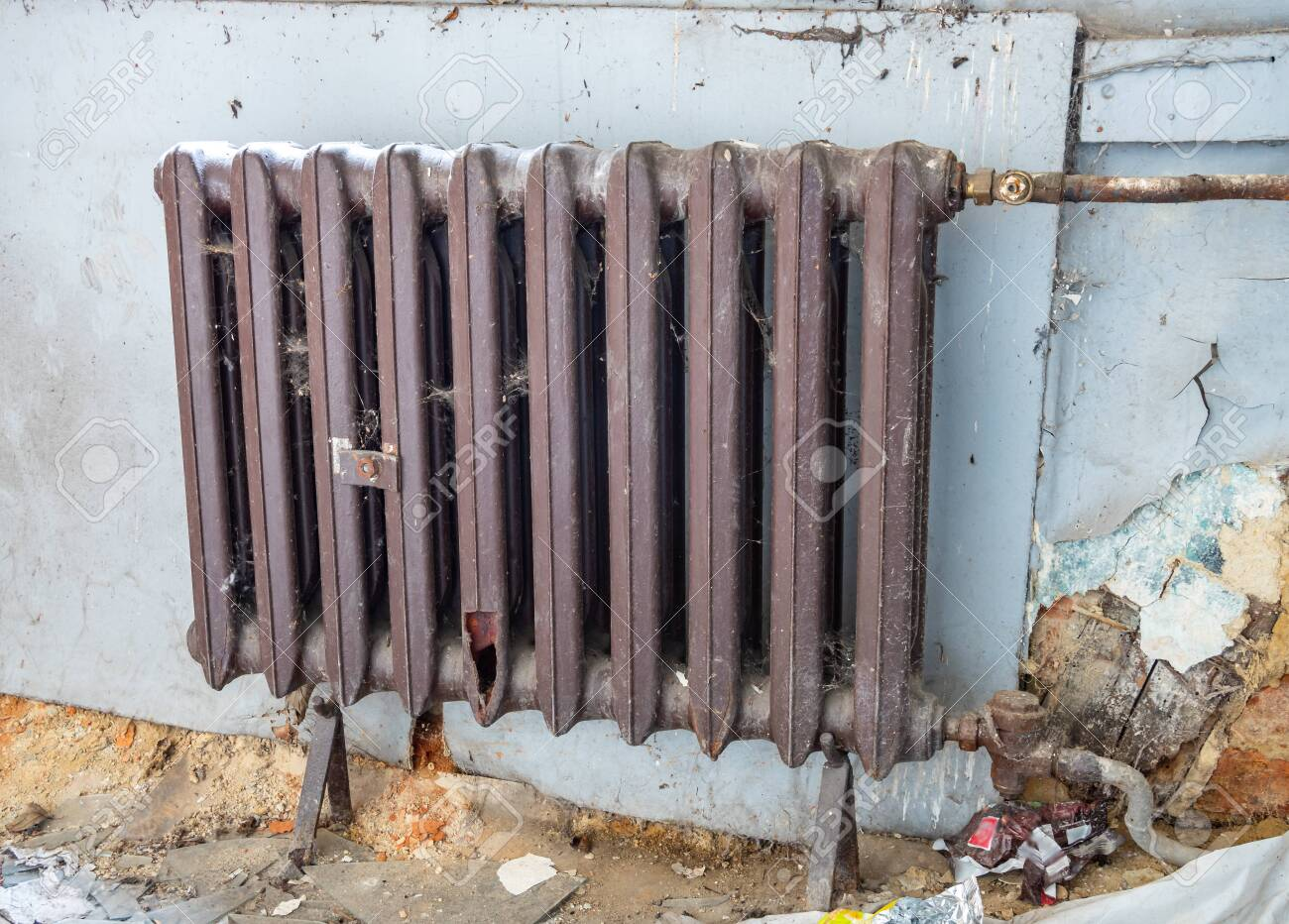 Old Radiator In The Room Stock Photo Picture And Royalty Free Image Image 131095851