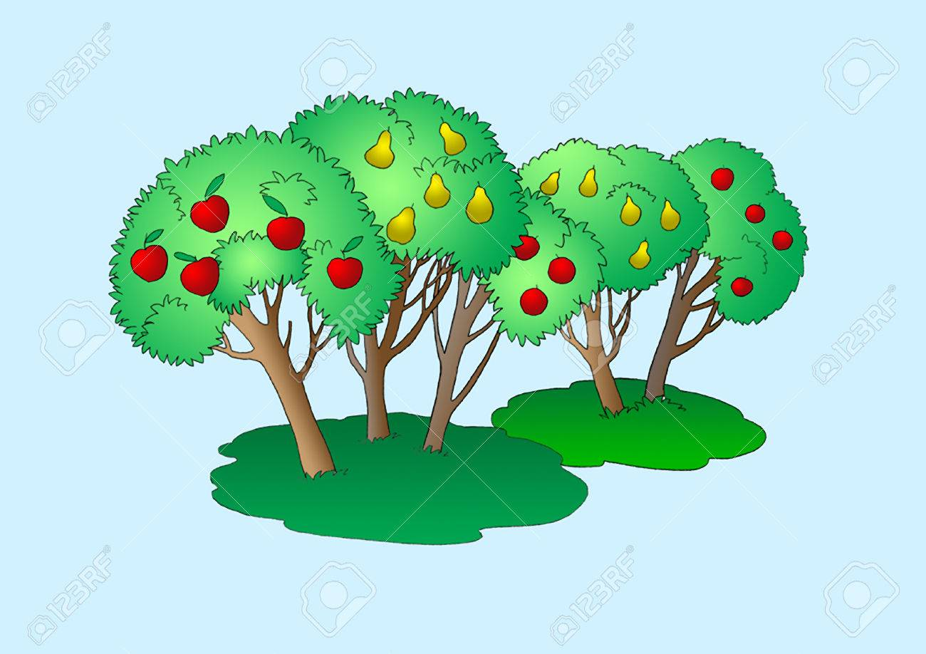 Fruit Trees Illustration Digital Painting Background Illustration Stock Photo Picture And Royalty Free Image Image 81030372 448 cartoon tree painting products are offered for sale by suppliers on alibaba.com, of which wallpapers/wall coating accounts for 1%. fruit trees illustration digital painting background illustration stock photo picture and royalty free image image 81030372