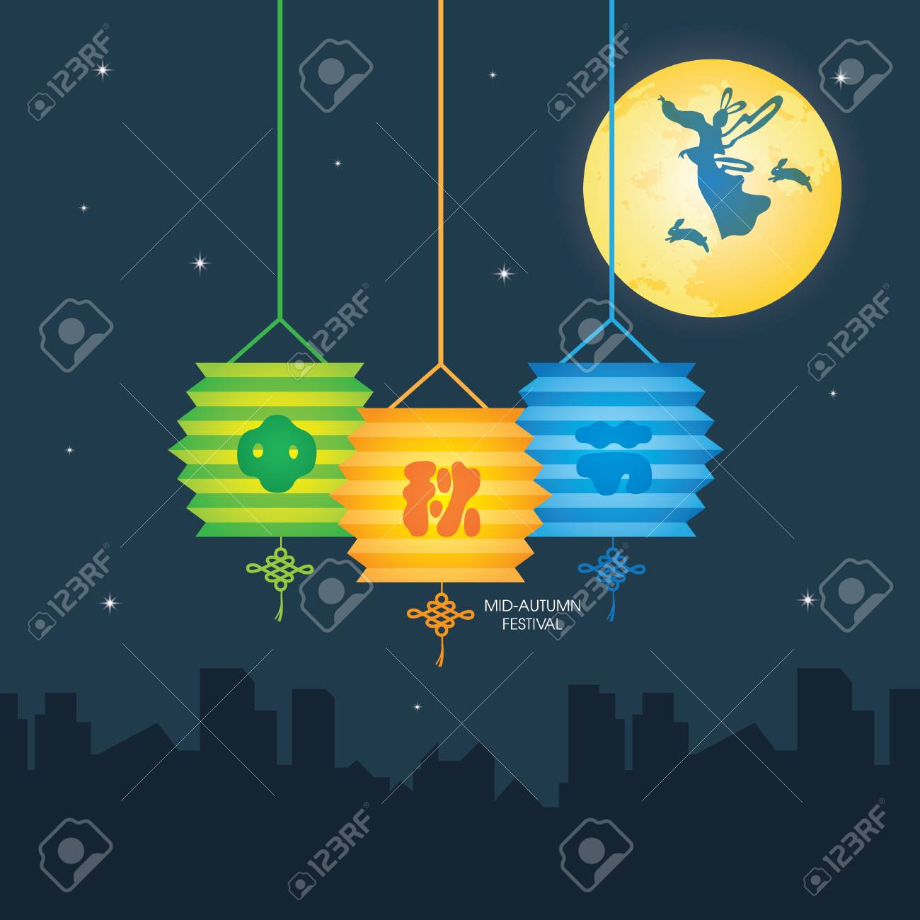 Mid autumn festival illustration of change moon goddess bunny mid autumn festival illustration of change moon goddess bunny pooptronica Choice Image