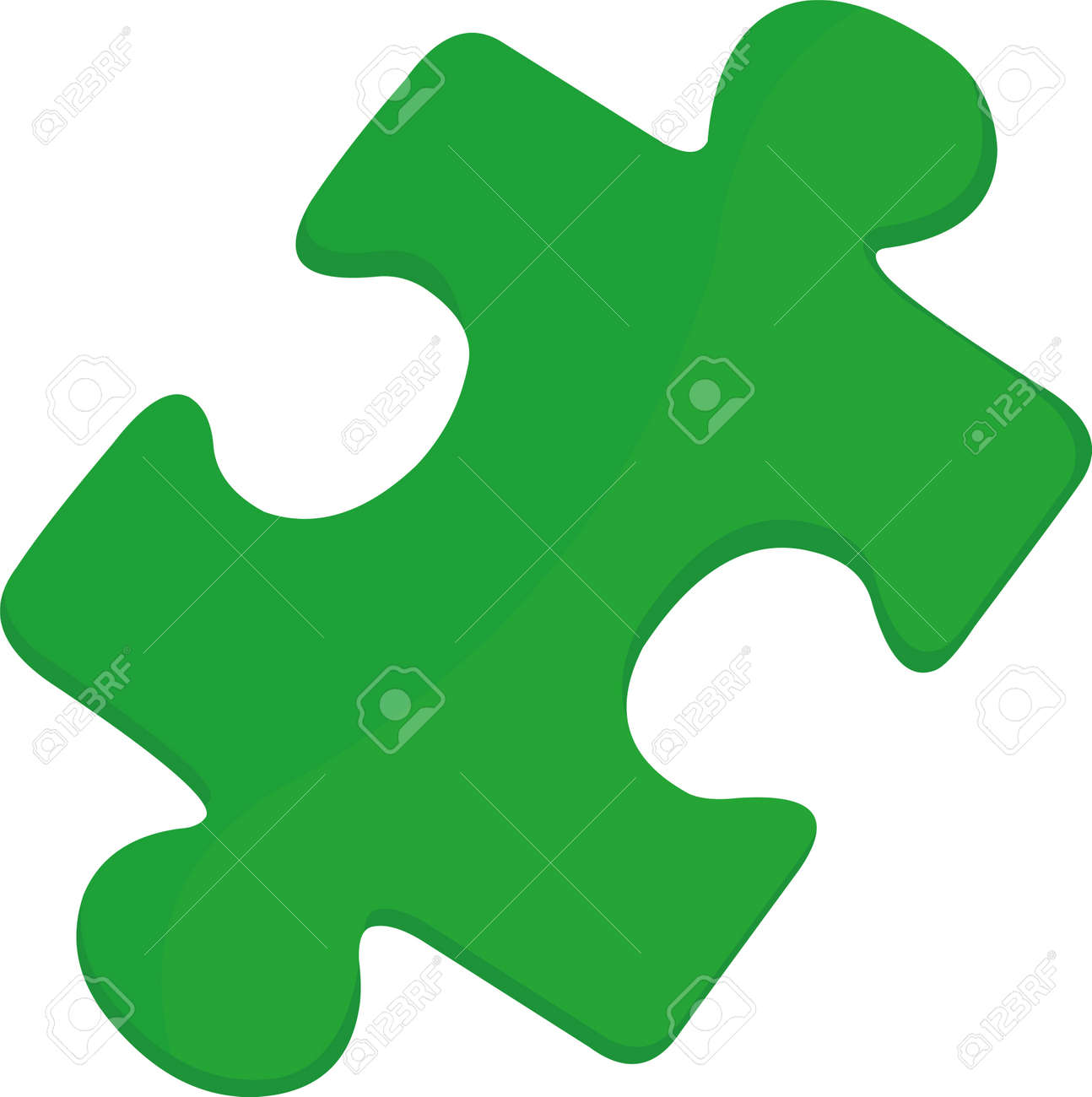 Vector illustration of emoticon of one piece of puzzle - 158146870