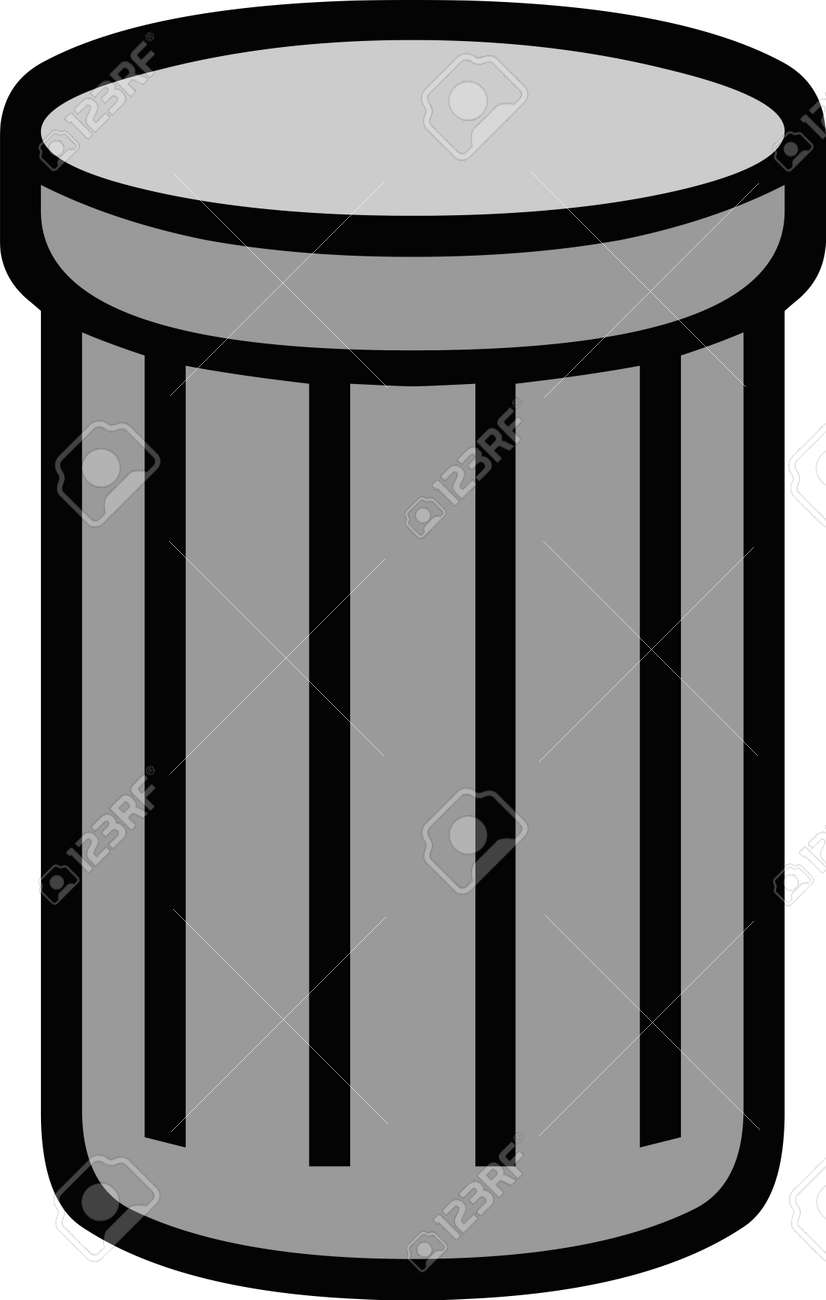Vector illustration of a trash can icon - 162454247