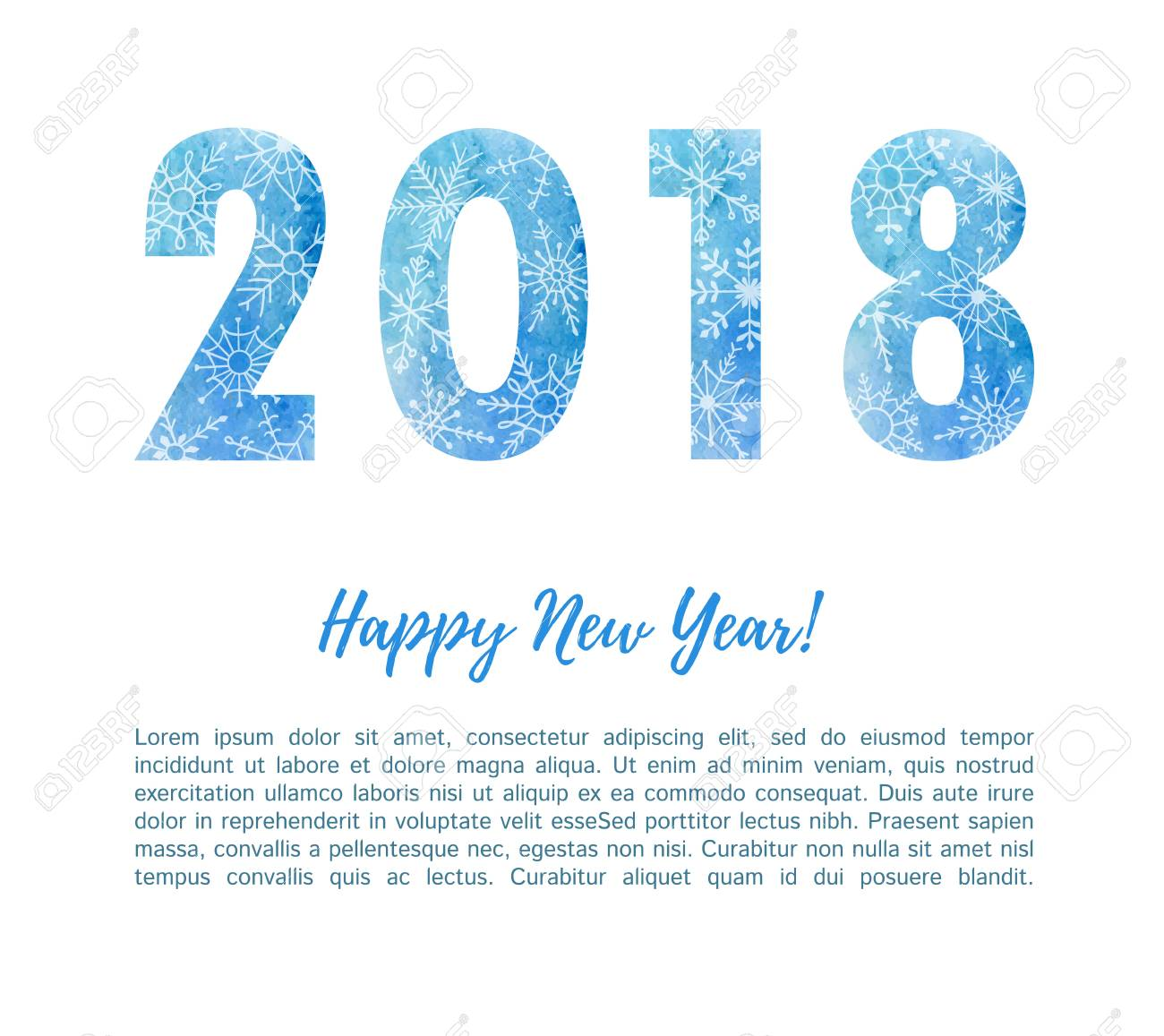 happy new year 2018 bright poster card banner flyer or print design