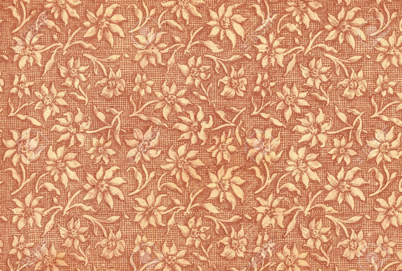 Floral Utilises Dans Le Papier Peint Vintage Rouge Naturelles