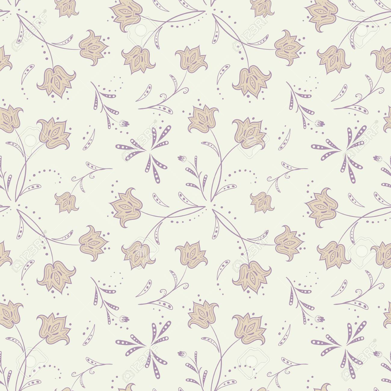 Soft Floral Seamless Pattern Delicate Universal Background For