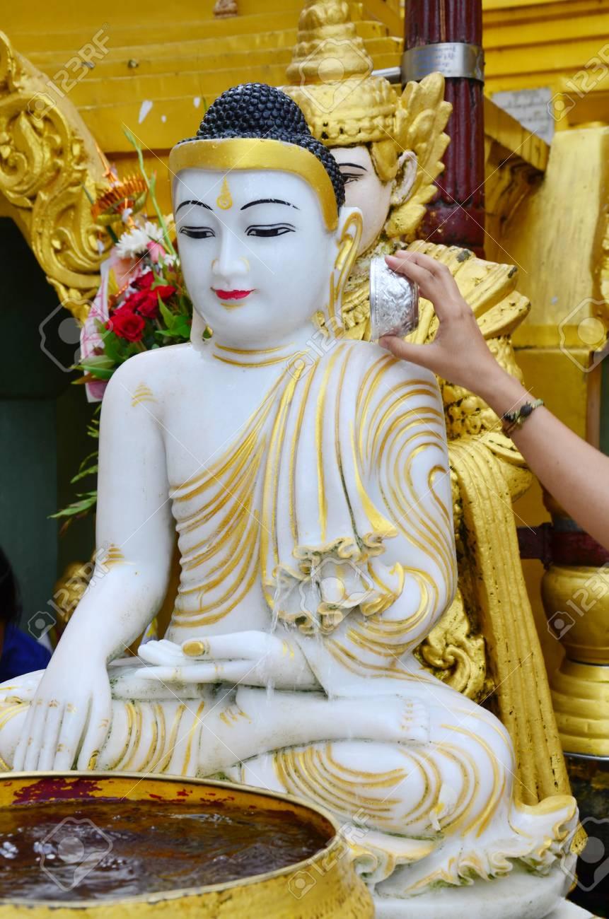 Buddha image statue Burma Style of Shwedagon Pagoda or Great