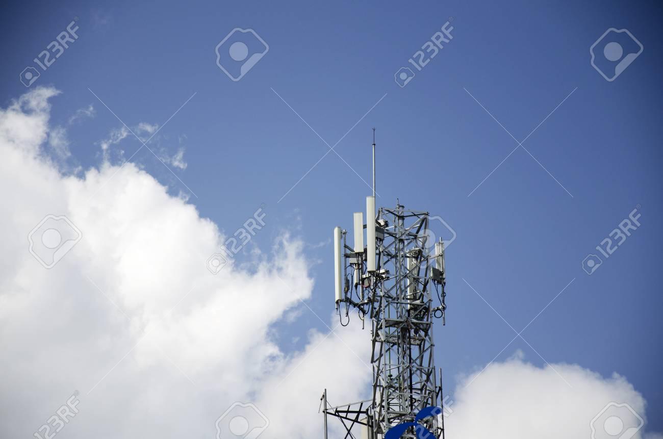Immagini Stock Collegamento A Relè Radio Stazione Base Mobile