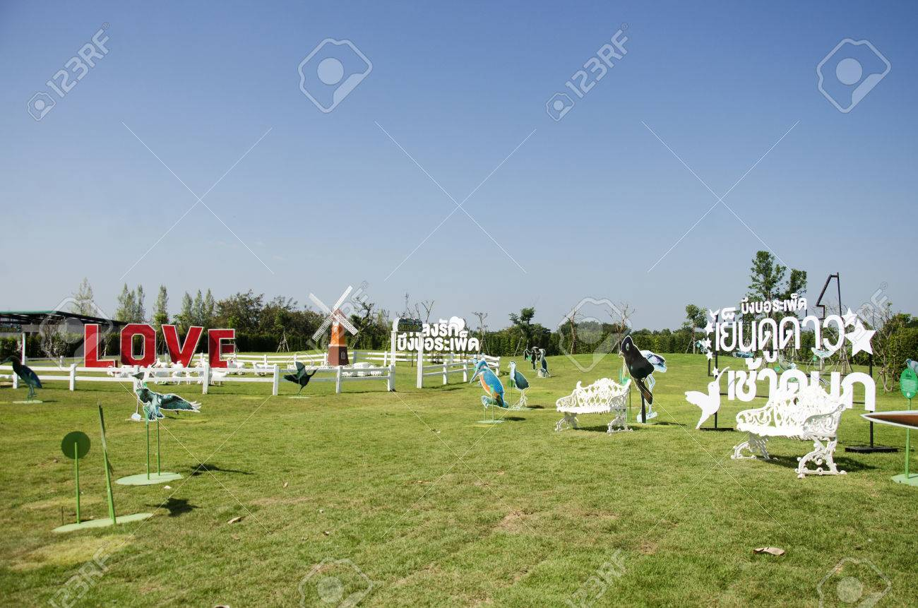 Pin Wheel Or Windmill And Decoration Of Gardening In Public Garden ...