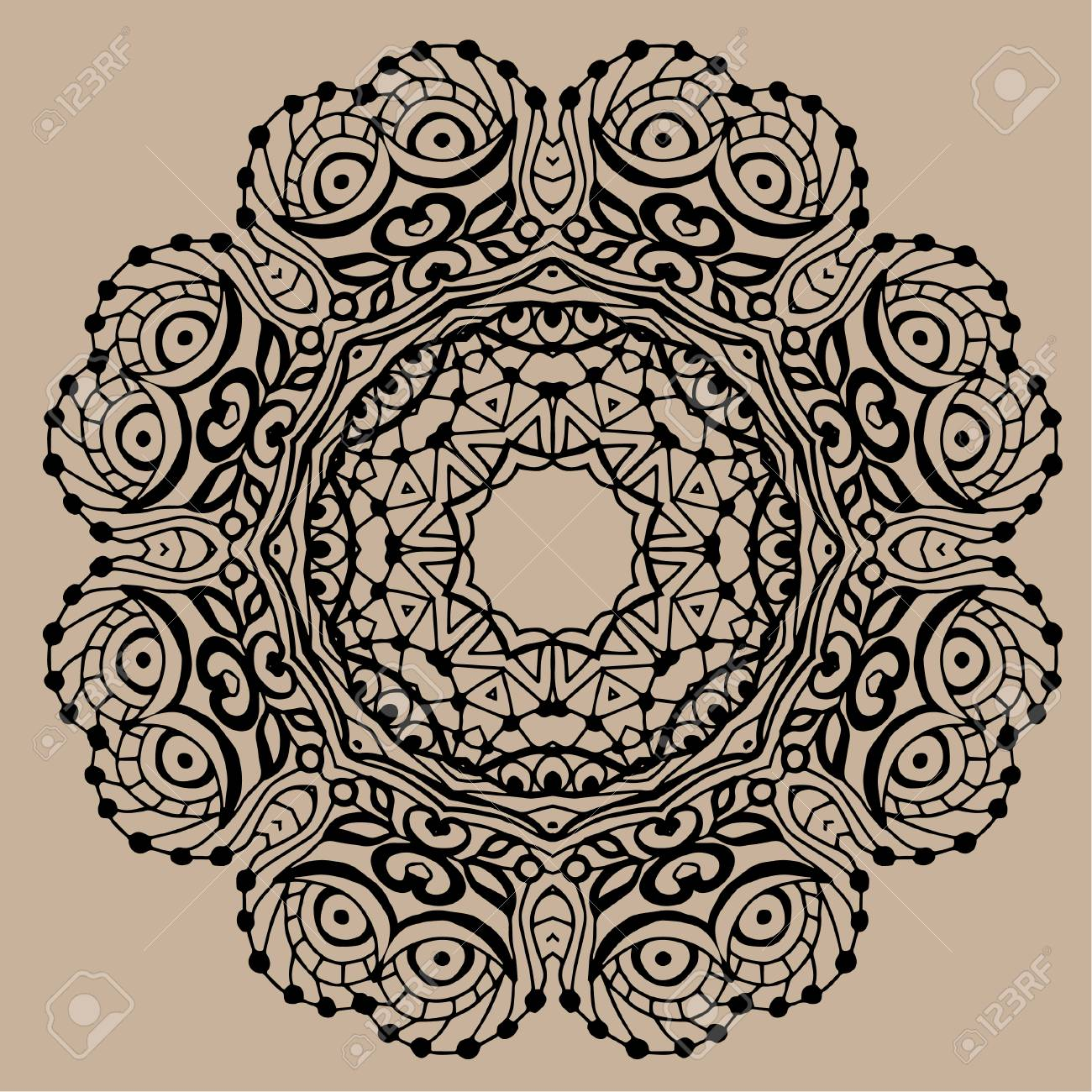 Mandala - Coloring Book Page For Adults, Relax And Meditation ...